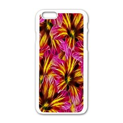 Floral Pattern Background Seamless Apple Iphone 6/6s White Enamel Case by Nexatart