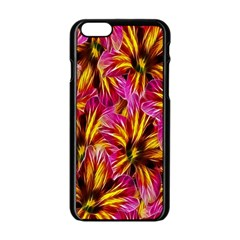 Floral Pattern Background Seamless Apple Iphone 6/6s Black Enamel Case by Nexatart
