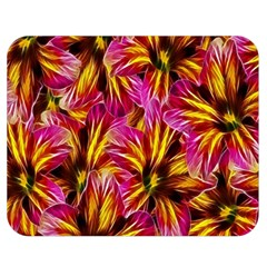 Floral Pattern Background Seamless Double Sided Flano Blanket (medium)