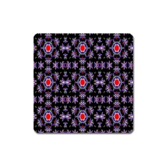 Digital Computer Graphic Seamless Wallpaper Square Magnet