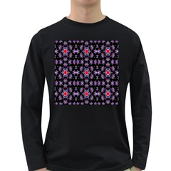 Digital Computer Graphic Seamless Wallpaper Long Sleeve Dark T Shirts
