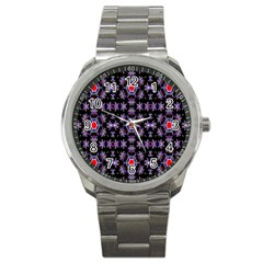 Digital Computer Graphic Seamless Wallpaper Sport Metal Watch