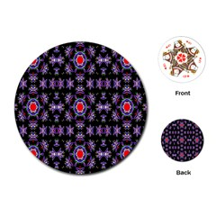 Digital Computer Graphic Seamless Wallpaper Playing Cards (Round)  by Nexatart