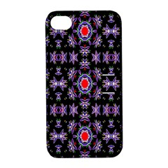 Digital Computer Graphic Seamless Wallpaper Apple Iphone 4/4s Hardshell Case With Stand by Nexatart