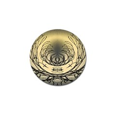 Atmospheric Black Branches Abstract Golf Ball Marker (4 Pack)