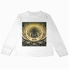 Atmospheric Black Branches Abstract Kids Long Sleeve T Shirts by Nexatart