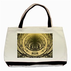 Atmospheric Black Branches Abstract Basic Tote Bag by Nexatart
