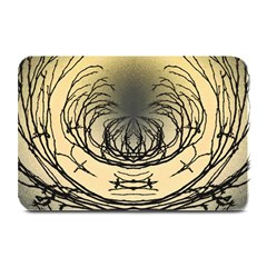 Atmospheric Black Branches Abstract Plate Mats by Nexatart