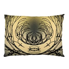 Atmospheric Black Branches Abstract Pillow Case by Nexatart