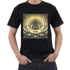Atmospheric Black Branches Abstract Men s T Shirt (black)