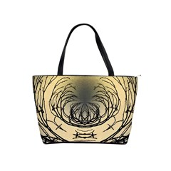 Atmospheric Black Branches Abstract Shoulder Handbags by Nexatart