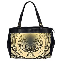 Atmospheric Black Branches Abstract Office Handbags (2 Sides)  by Nexatart
