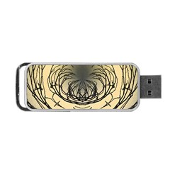 Atmospheric Black Branches Abstract Portable Usb Flash (two Sides) by Nexatart