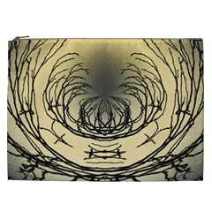 Atmospheric Black Branches Abstract Cosmetic Bag (xxl)  by Nexatart