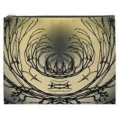 Atmospheric Black Branches Abstract Cosmetic Bag (xxxl)  by Nexatart