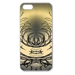 Atmospheric Black Branches Abstract Apple Seamless Iphone 5 Case (clear)