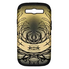 Atmospheric Black Branches Abstract Samsung Galaxy S Iii Hardshell Case (pc+silicone) by Nexatart