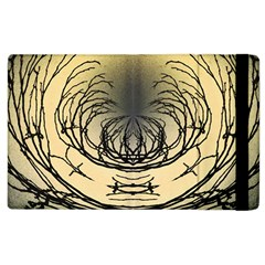 Atmospheric Black Branches Abstract Apple Ipad 3/4 Flip Case