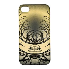 Atmospheric Black Branches Abstract Apple Iphone 4/4s Hardshell Case With Stand