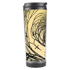 Atmospheric Black Branches Abstract Travel Tumbler by Nexatart