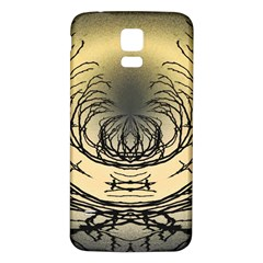 Atmospheric Black Branches Abstract Samsung Galaxy S5 Back Case (white) by Nexatart