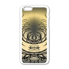 Atmospheric Black Branches Abstract Apple Iphone 6/6s White Enamel Case by Nexatart