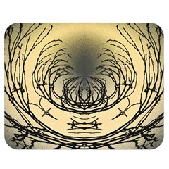 Atmospheric Black Branches Abstract Double Sided Flano Blanket (medium)  by Nexatart