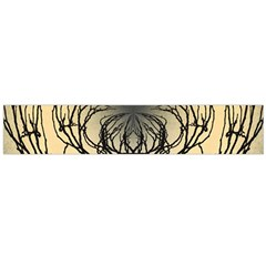 Atmospheric Black Branches Abstract Flano Scarf (large)
