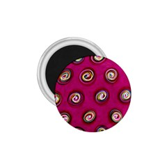 Digitally Painted Abstract Polka Dot Swirls On A Pink Background 1 75  Magnets