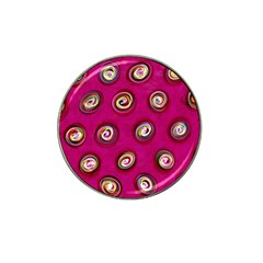 Digitally Painted Abstract Polka Dot Swirls On A Pink Background Hat Clip Ball Marker (4 Pack)