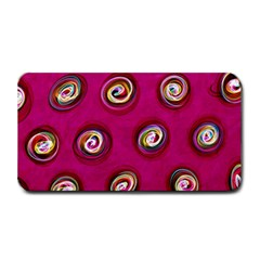 Digitally Painted Abstract Polka Dot Swirls On A Pink Background Medium Bar Mats by Nexatart