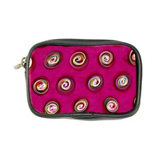 Digitally Painted Abstract Polka Dot Swirls On A Pink Background Coin Purse