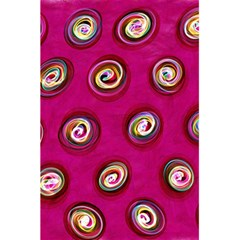 Digitally Painted Abstract Polka Dot Swirls On A Pink Background 5 5  X 8 5  Notebooks by Nexatart
