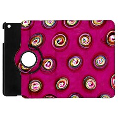 Digitally Painted Abstract Polka Dot Swirls On A Pink Background Apple Ipad Mini Flip 360 Case