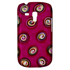 Digitally Painted Abstract Polka Dot Swirls On A Pink Background Galaxy S3 Mini by Nexatart