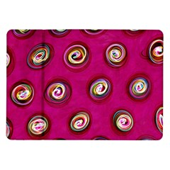 Digitally Painted Abstract Polka Dot Swirls On A Pink Background Samsung Galaxy Tab 10 1  P7500 Flip Case by Nexatart