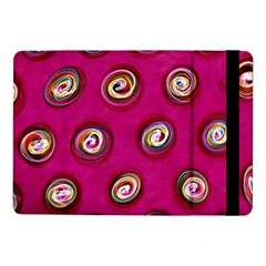Digitally Painted Abstract Polka Dot Swirls On A Pink Background Samsung Galaxy Tab Pro 10 1  Flip Case by Nexatart