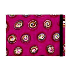 Digitally Painted Abstract Polka Dot Swirls On A Pink Background Ipad Mini 2 Flip Cases