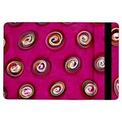Digitally Painted Abstract Polka Dot Swirls On A Pink Background Ipad Air Flip