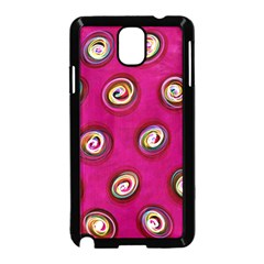 Digitally Painted Abstract Polka Dot Swirls On A Pink Background Samsung Galaxy Note 3 Neo Hardshell Case (black)