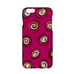 Digitally Painted Abstract Polka Dot Swirls On A Pink Background Apple Iphone 6/6s Hardshell Case by Nexatart