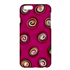 Digitally Painted Abstract Polka Dot Swirls On A Pink Background Apple Iphone 6 Plus/6s Plus Hardshell Case