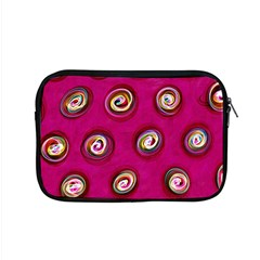Digitally Painted Abstract Polka Dot Swirls On A Pink Background Apple Macbook Pro 15  Zipper Case