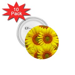 Sunflowers Background Wallpaper Pattern 1 75  Buttons (10 Pack)