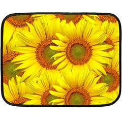Sunflowers Background Wallpaper Pattern Double Sided Fleece Blanket (mini)  by Nexatart