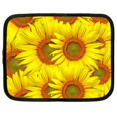 Sunflowers Background Wallpaper Pattern Netbook Case (xl)  by Nexatart