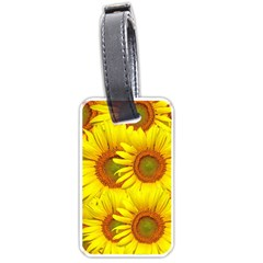 Sunflowers Background Wallpaper Pattern Luggage Tags (one Side)