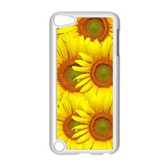 Sunflowers Background Wallpaper Pattern Apple Ipod Touch 5 Case (white) by Nexatart