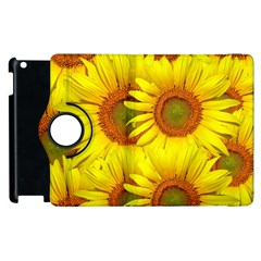 Sunflowers Background Wallpaper Pattern Apple Ipad 2 Flip 360 Case