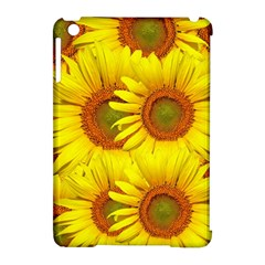 Sunflowers Background Wallpaper Pattern Apple Ipad Mini Hardshell Case (compatible With Smart Cover) by Nexatart